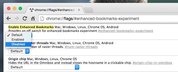 disable bookmarks flag