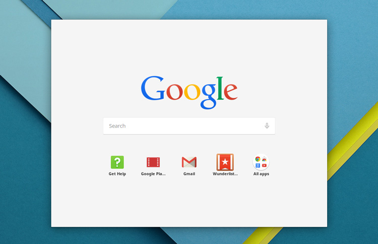 app launcher in chrome os
