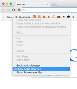 How to Remove the Apps Button from Chrome Bookmark Bar