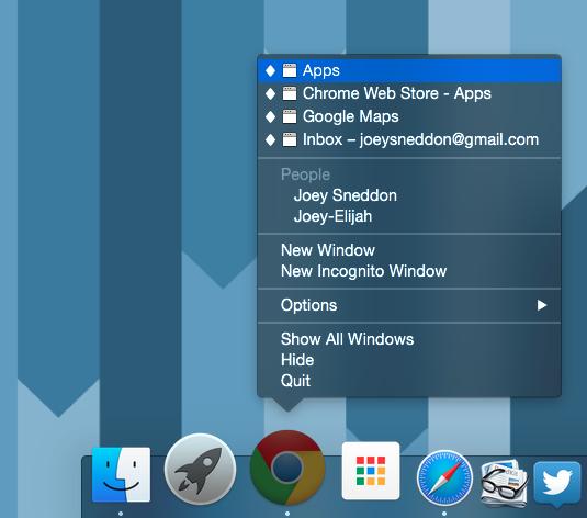 mac chrome dock icon