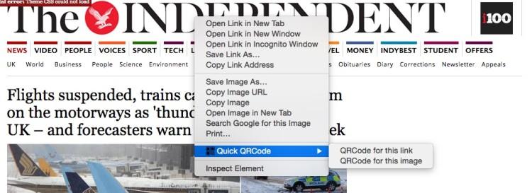 qr code context menu