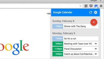 google cal extension