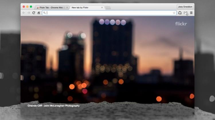 Flickr Tab for Chrome