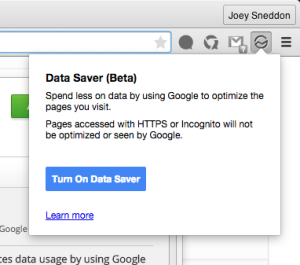 data saver extension beta