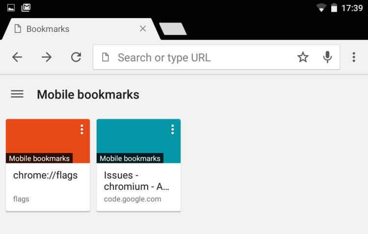 enhanced bookmarks in mobile chrome