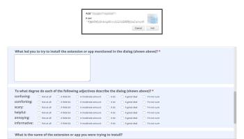 Chrome Survey Page