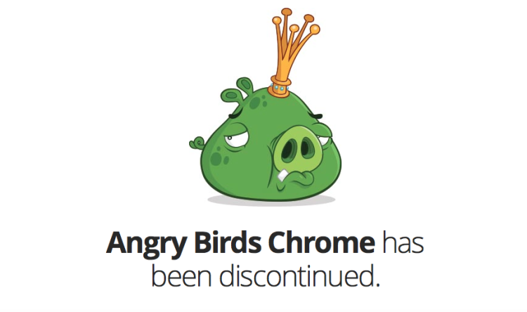 Angry Birds Chrome Message