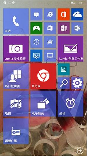 windows phone 10 chrome