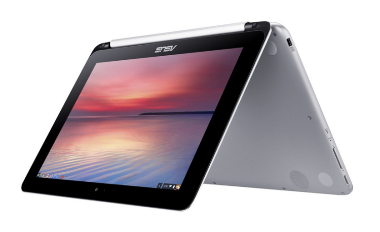 asus Chromebook flip tent mode