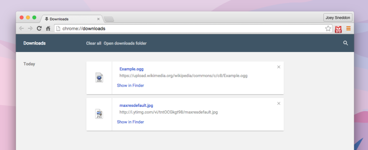 material design downloads page