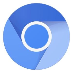 new material chromium icon logo