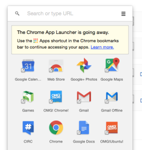 chrome app launcher discontinued