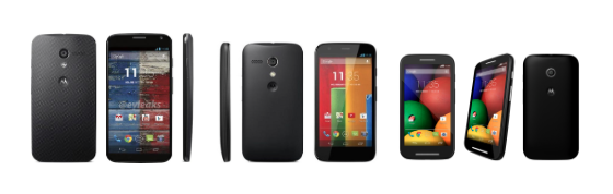 motorola devices in a line