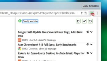 feedly chrome extension