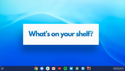 Chromebook App Shelf