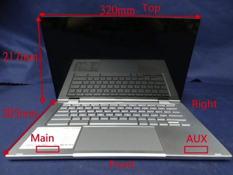 ASUS Chromebook Flip C433 annotated