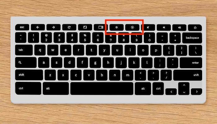 chromebook keyboard brightness keys