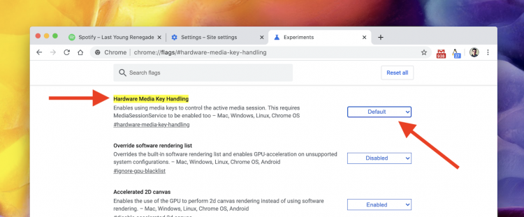 how to disable chrome media key integration